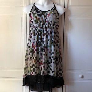 Floral checkered sheer Lane Bryant sundress 14/16